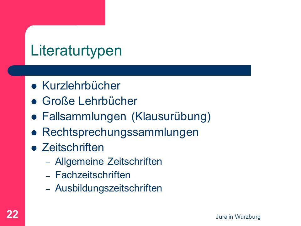Literaturtypen Kurzlehrbücher Große Lehrbücher