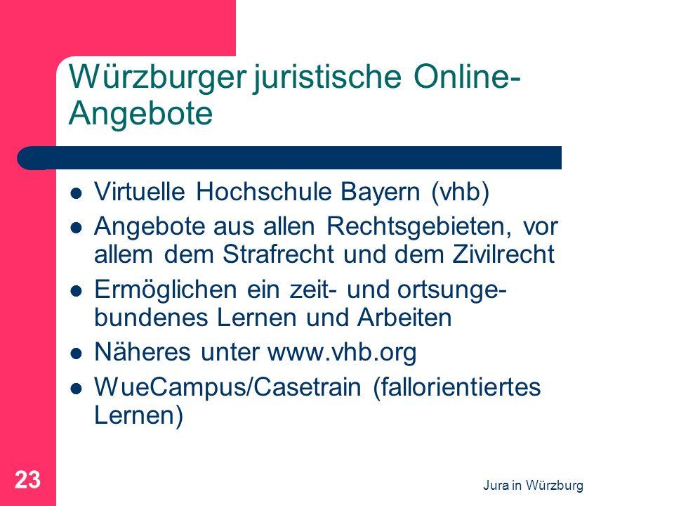 Würzburger juristische Online-Angebote