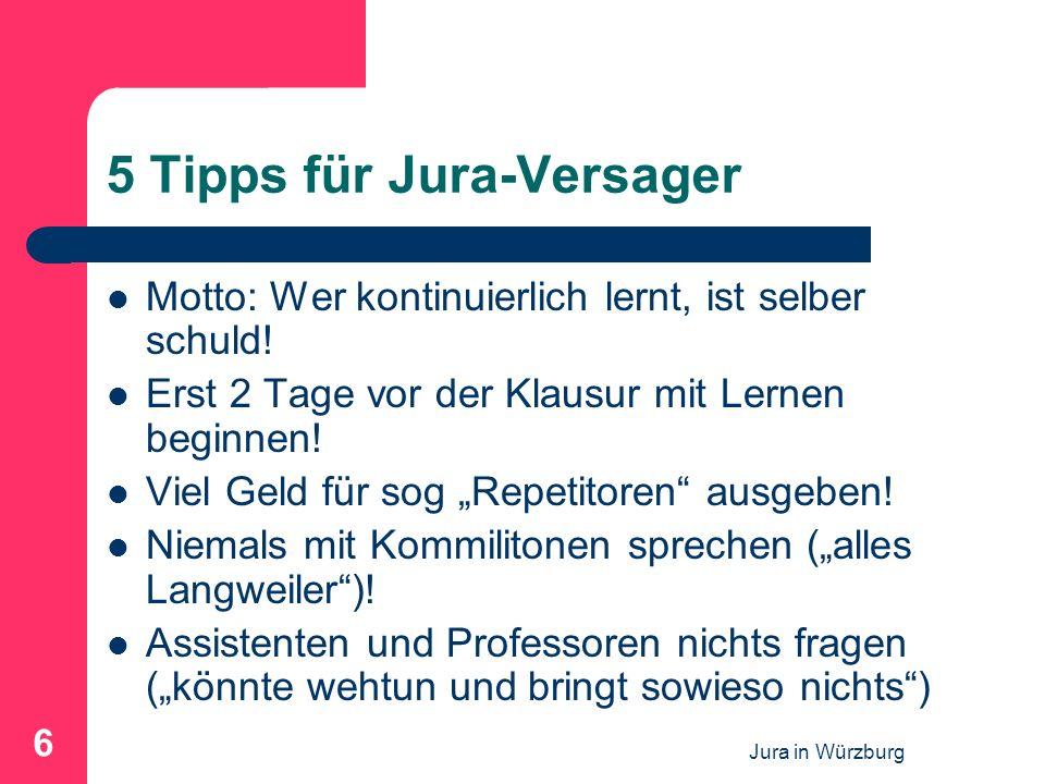 5 Tipps für Jura-Versager