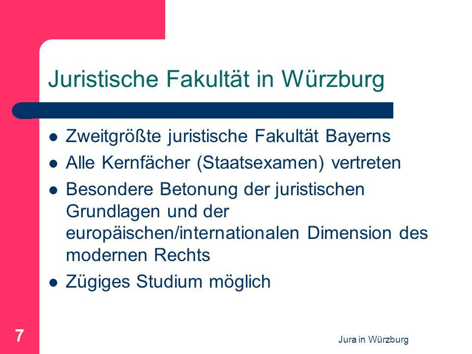 Juristische Fakultät in Würzburg