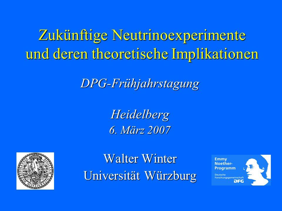 Zukünftige Neutrinoexperimente und deren theoretische Implikationen