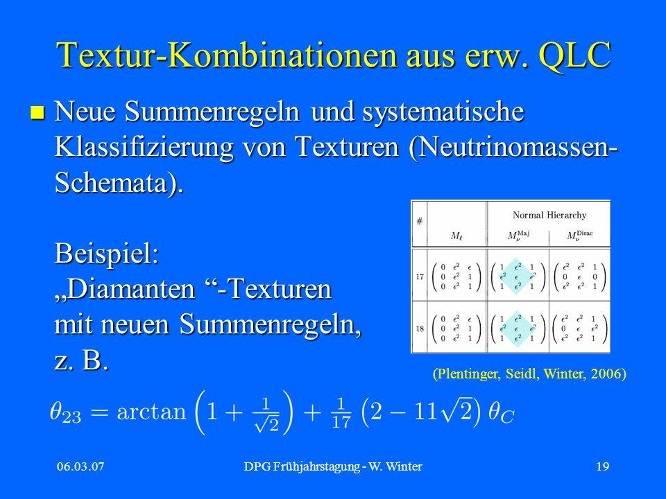 Textur-Kombinationen aus erw. QLC