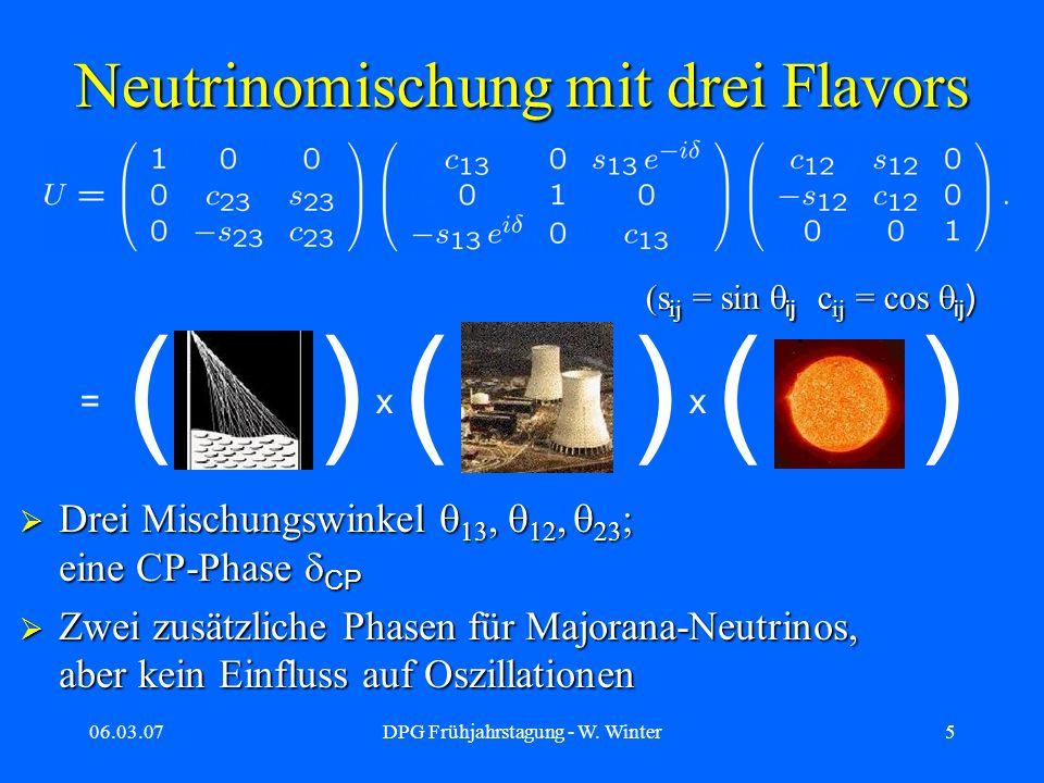 Neutrinomischung mit drei Flavors