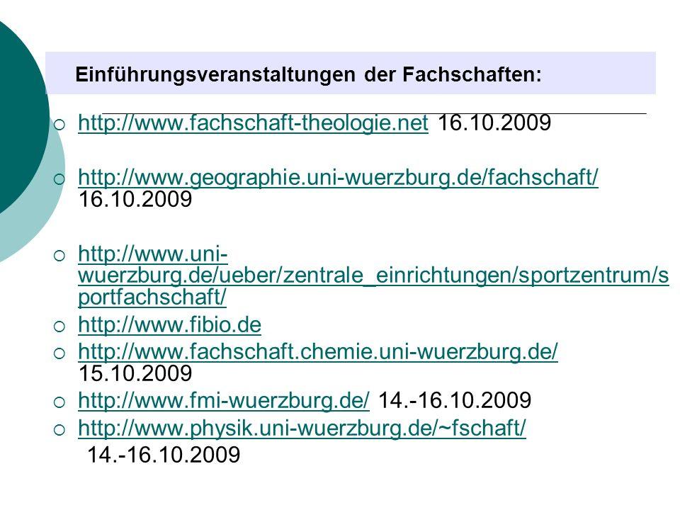 http://www.fachschaft-theologie.net 16.10.2009