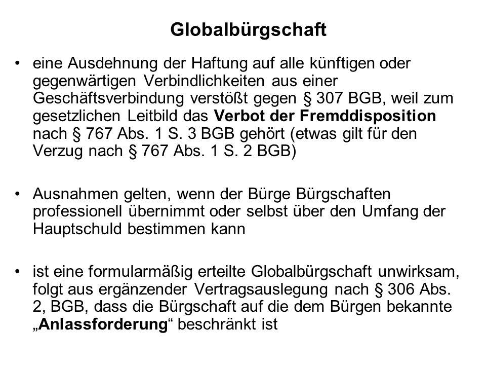 Globalbürgschaft