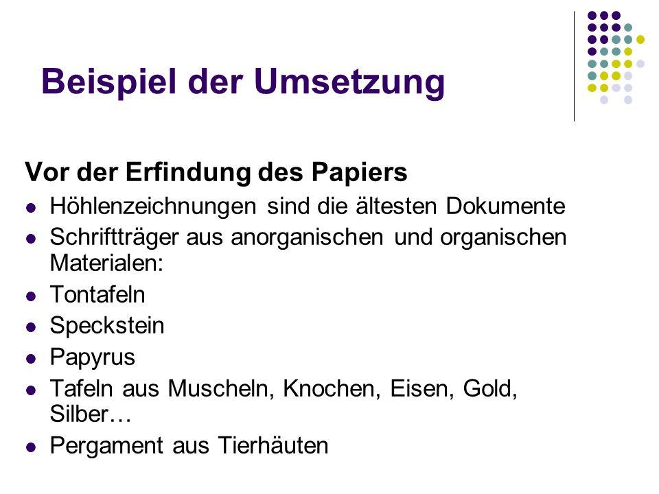 Vor der Erfindung des Papiers