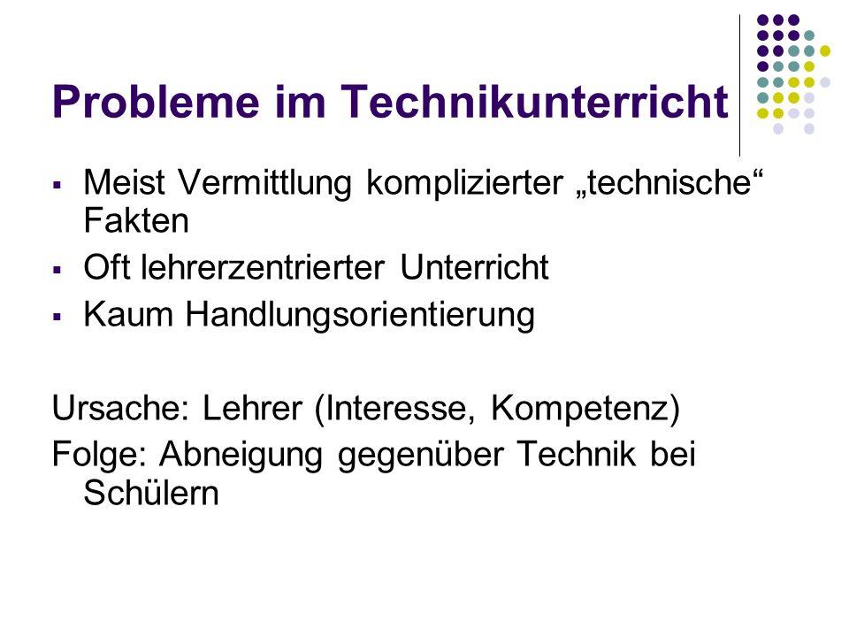 Probleme im Technikunterricht