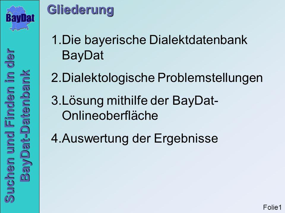 Die bayerische Dialektdatenbank BayDat