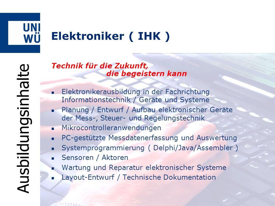 Ausbildungsinhalte Elektroniker ( IHK )