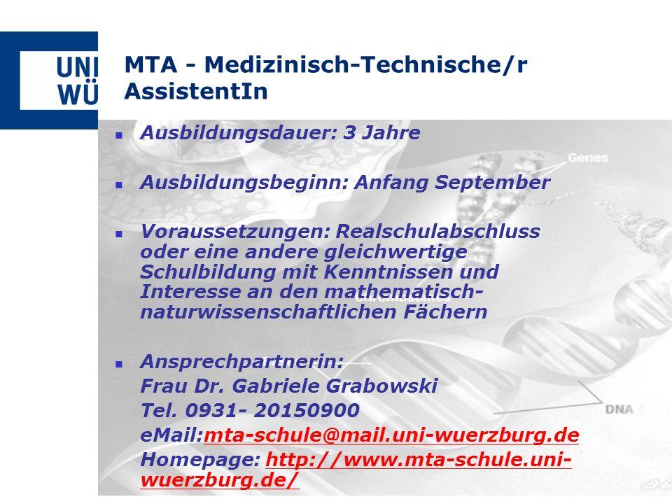 MTA - Medizinisch-Technische/r AssistentIn