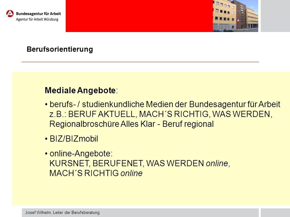 berufs- / studienkundliche Medien der Bundesagentur für Arbeit