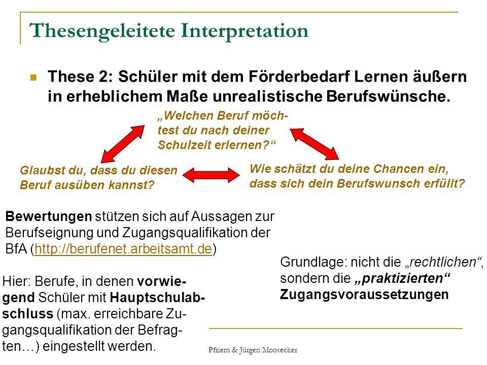 Thesengeleitete Interpretation