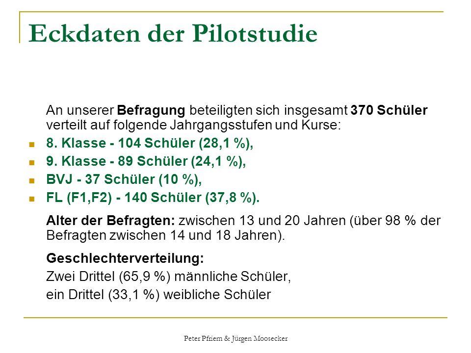 Eckdaten der Pilotstudie