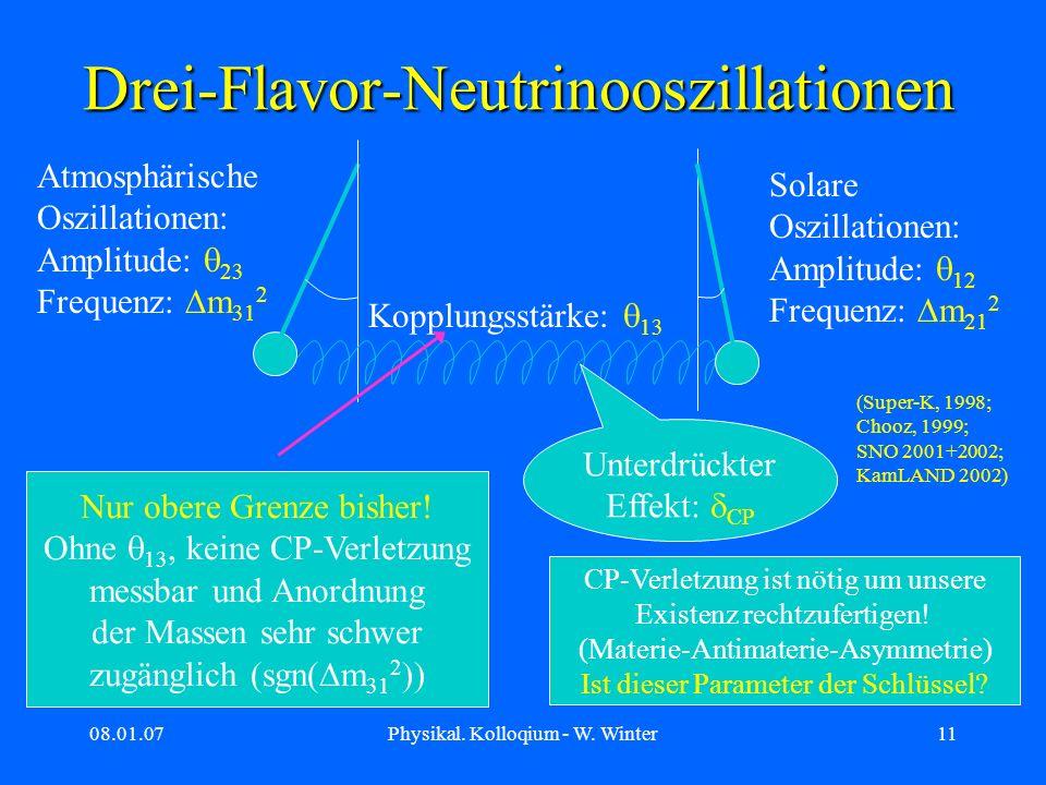 Drei-Flavor-Neutrinooszillationen