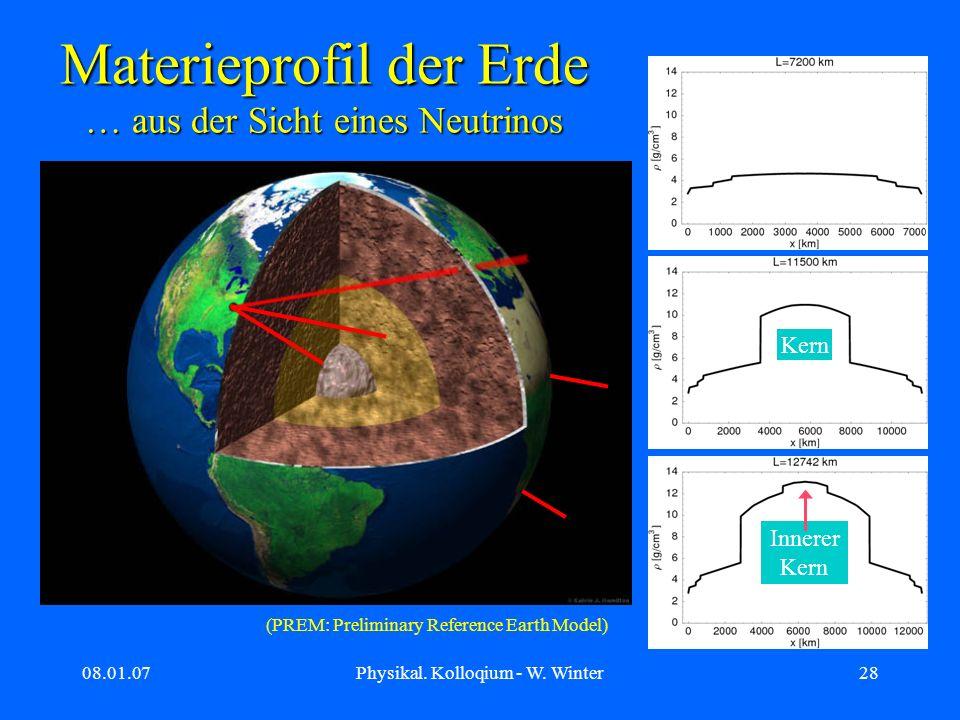 Materieprofil der Erde … aus der Sicht eines Neutrinos