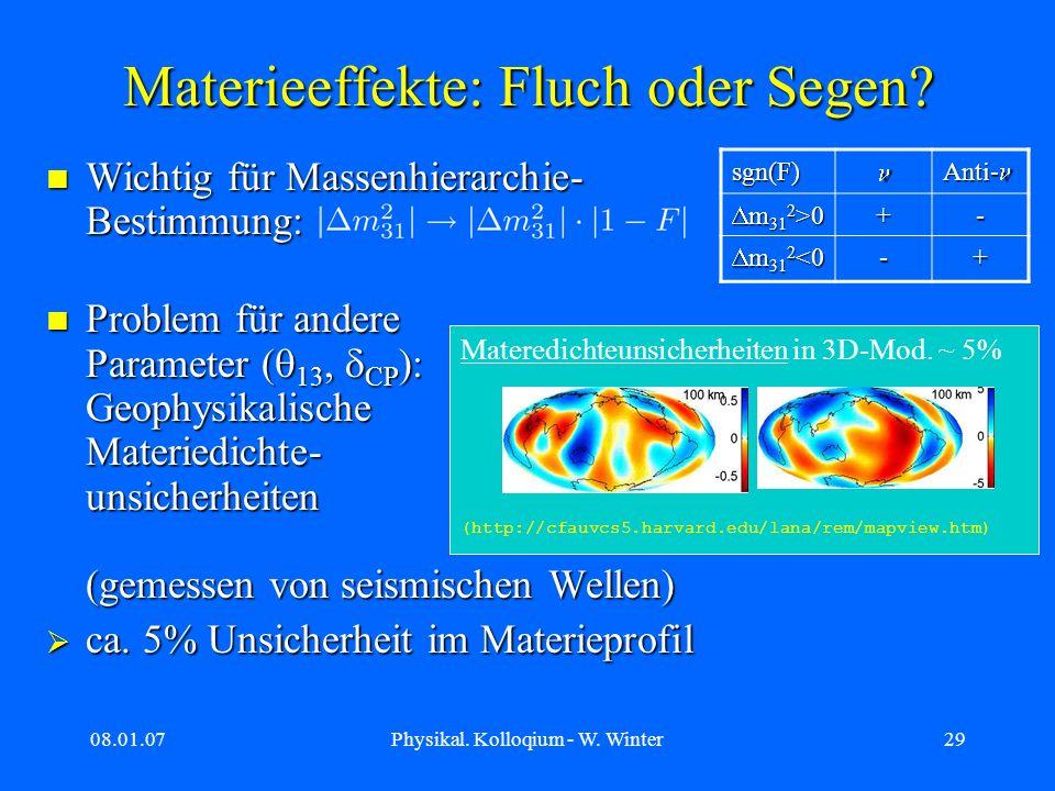 Materieeffekte: Fluch oder Segen