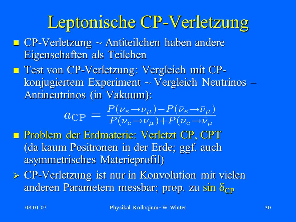 Leptonische CP-Verletzung