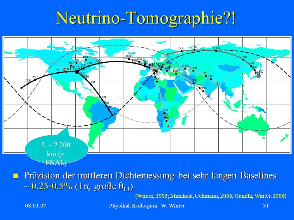 Neutrino-Tomographie !