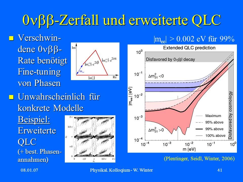0nbb-Zerfall und erweiterte QLC