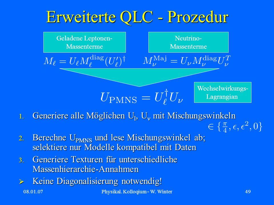 Erweiterte QLC - Prozedur