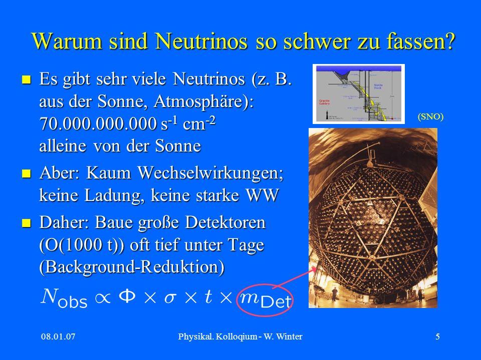 Warum sind Neutrinos so schwer zu fassen