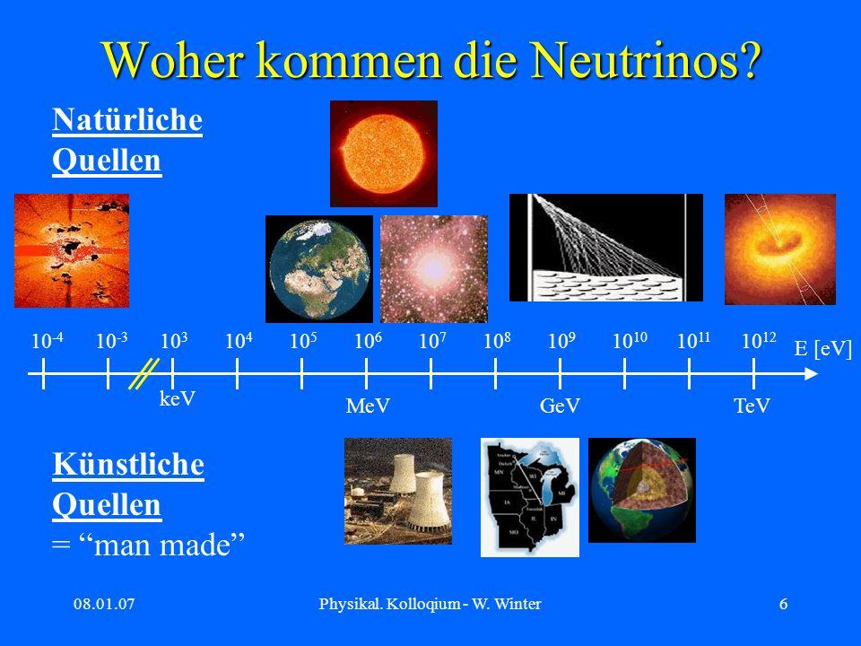 Woher kommen die Neutrinos