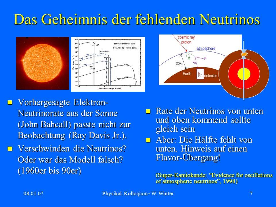 Das Geheimnis der fehlenden Neutrinos