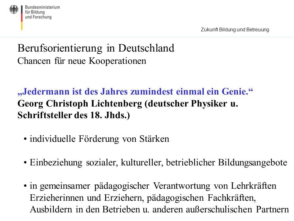 Berufsorientierung in Deutschland Chancen für neue Kooperationen