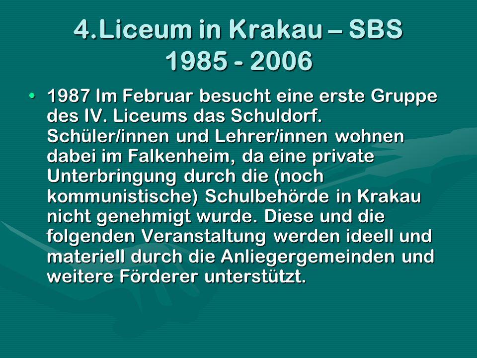 4.Liceum in Krakau – SBS 1985 - 2006