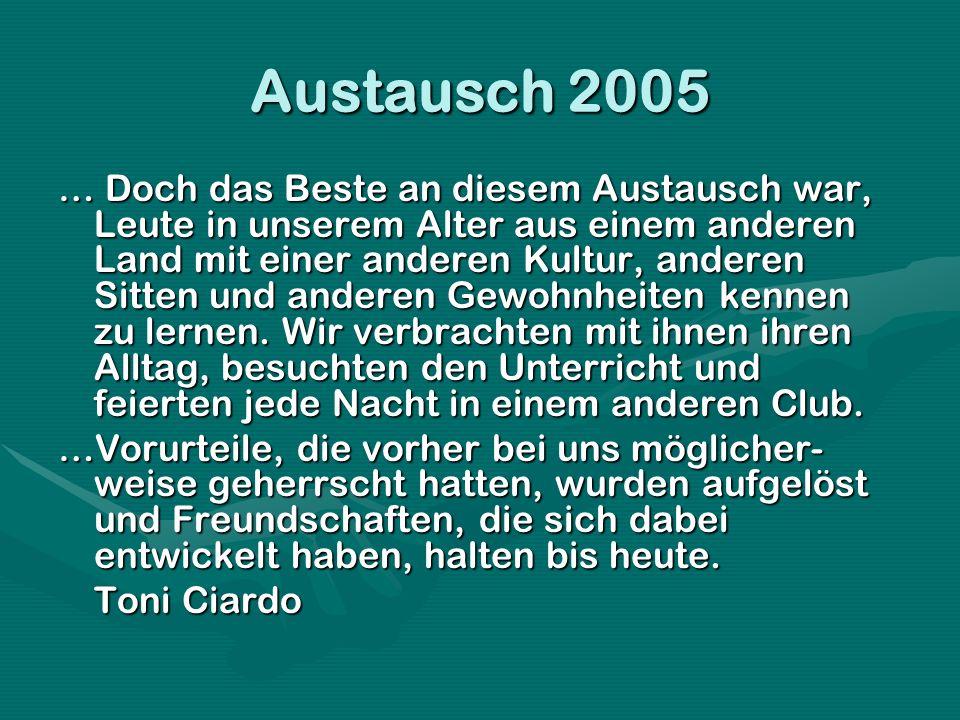 Austausch 2005