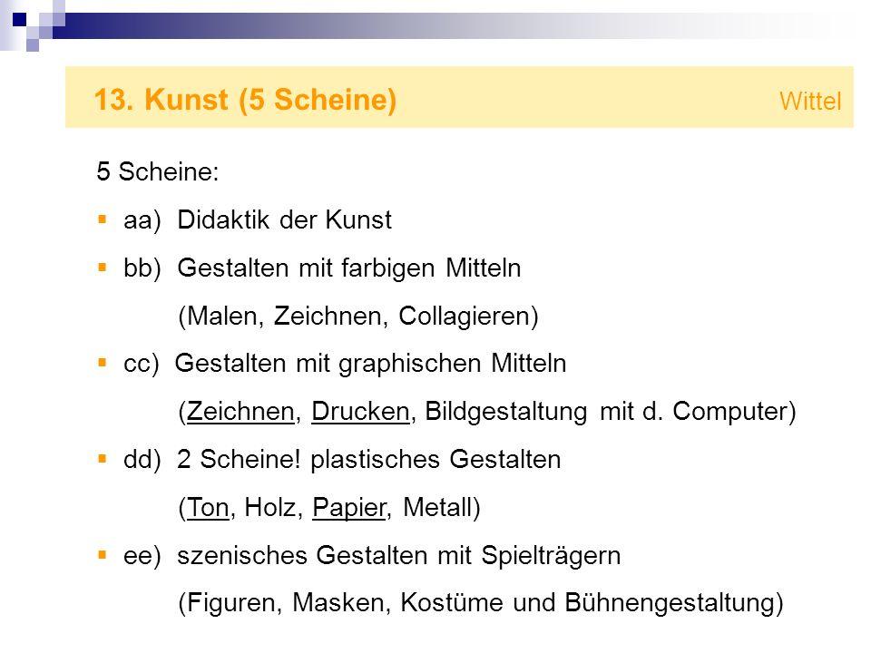 13. Kunst (5 Scheine) Wittel