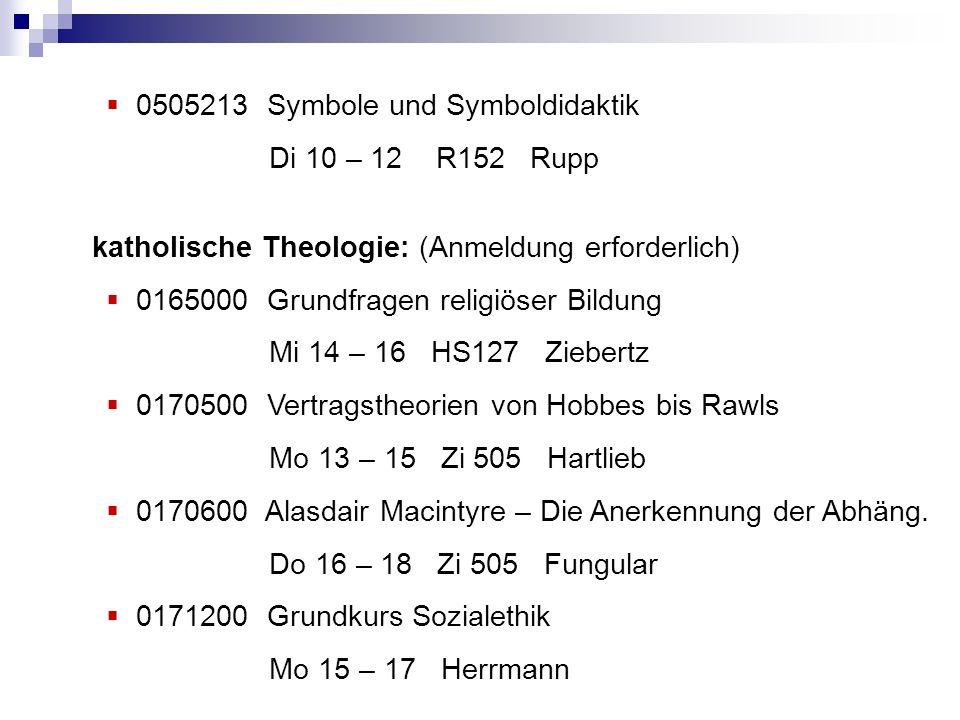 0505213 Symbole und Symboldidaktik