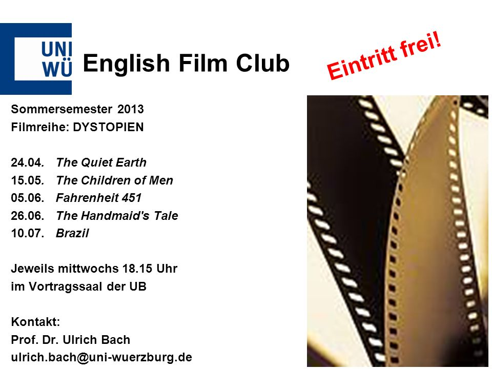 English Film Club Eintritt frei!