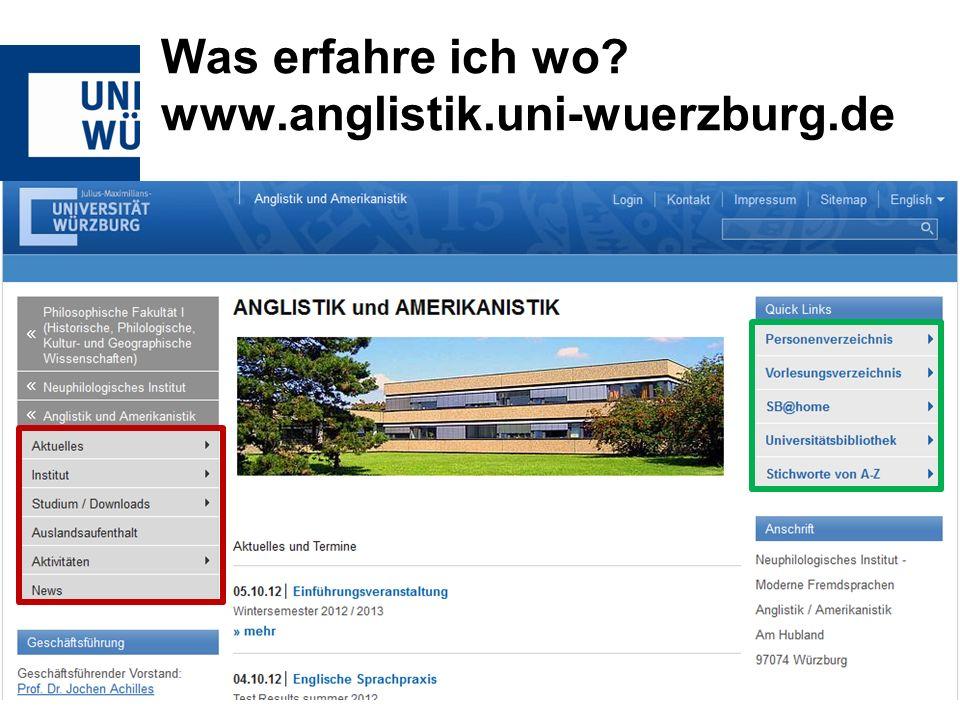 Was erfahre ich wo www.anglistik.uni-wuerzburg.de