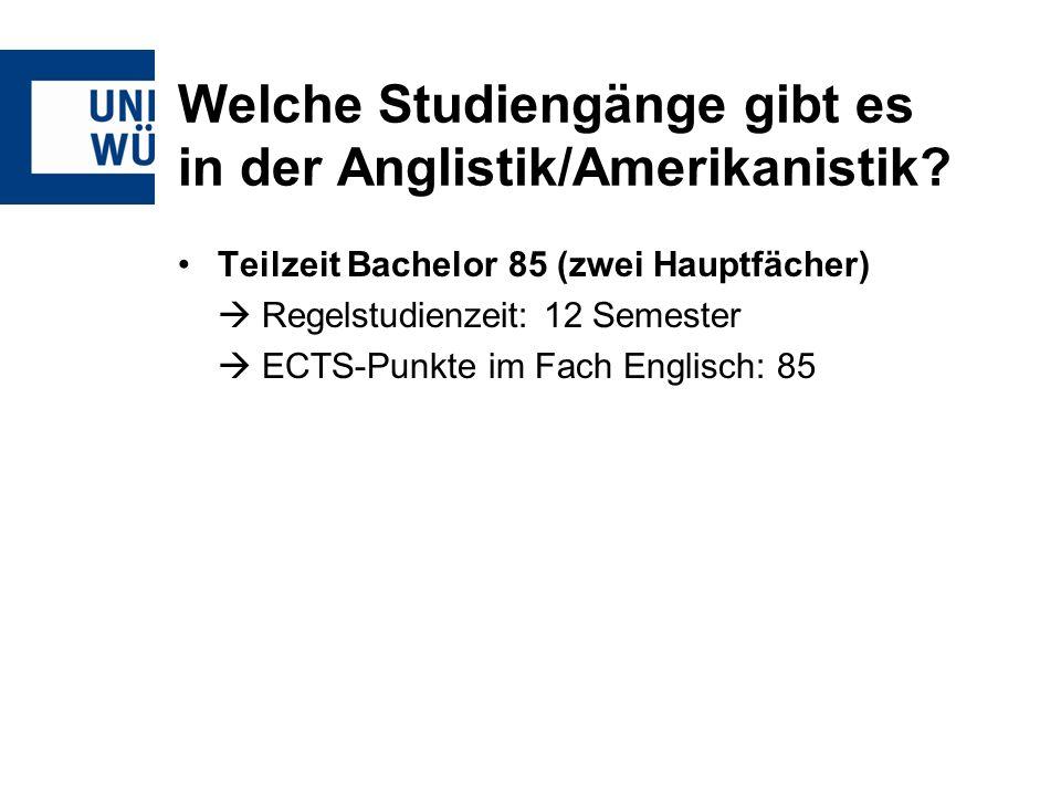 Welche Studiengänge gibt es in der Anglistik/Amerikanistik