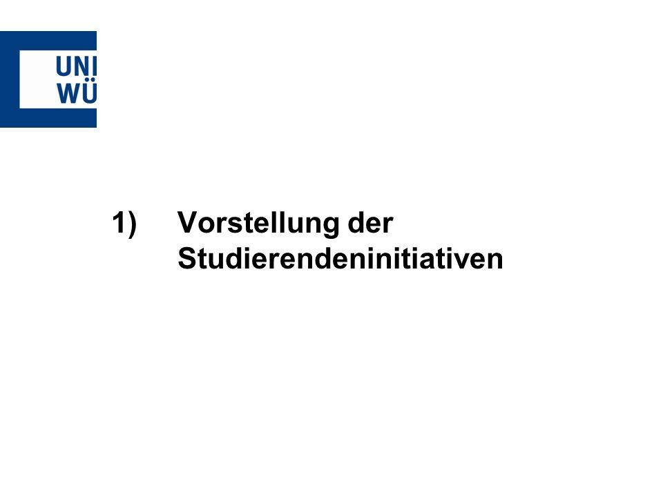 1) Vorstellung der Studierendeninitiativen