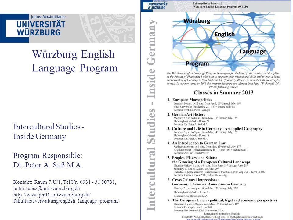 Würzburg English Language Program
