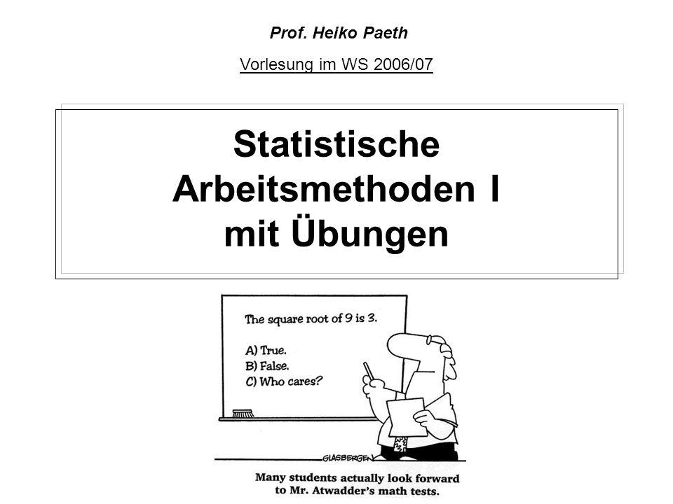Statistische Arbeitsmethoden I mit Übungen