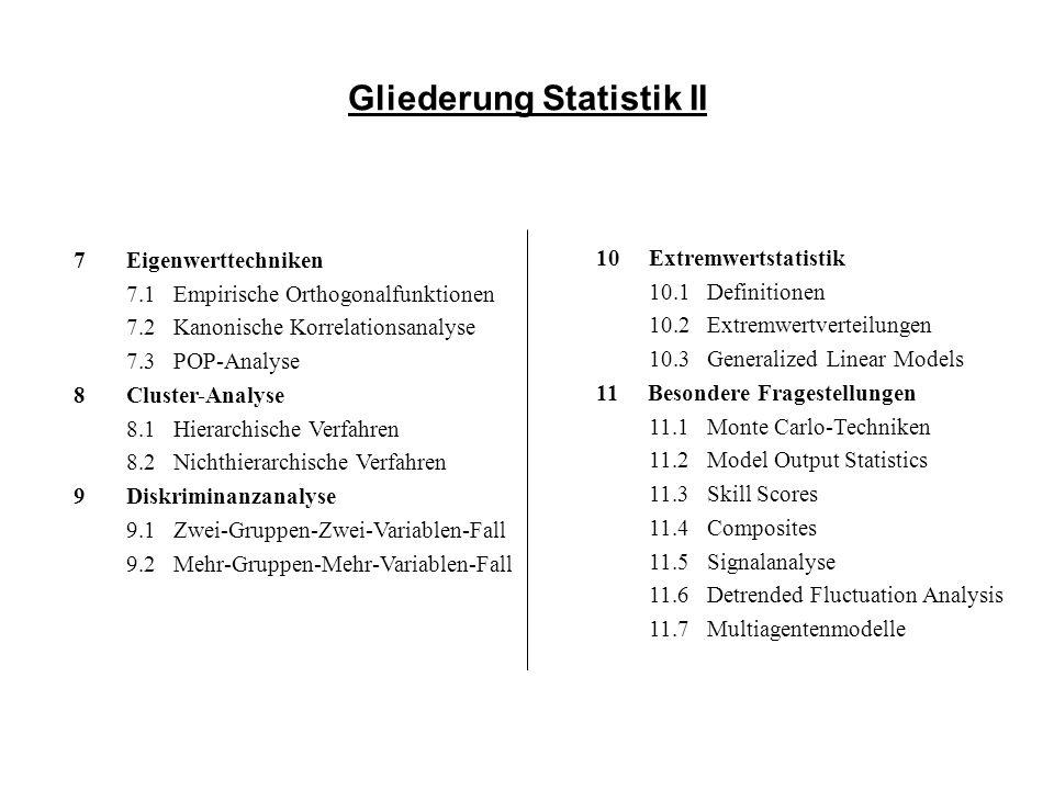 Gliederung Statistik II