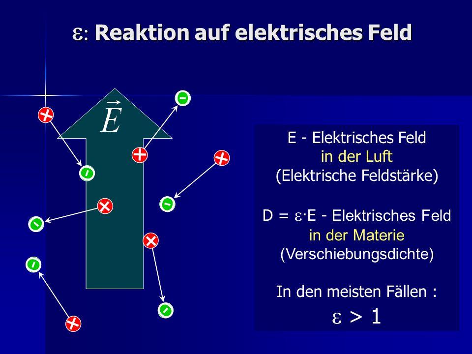 e: Reaktion auf elektrisches Feld