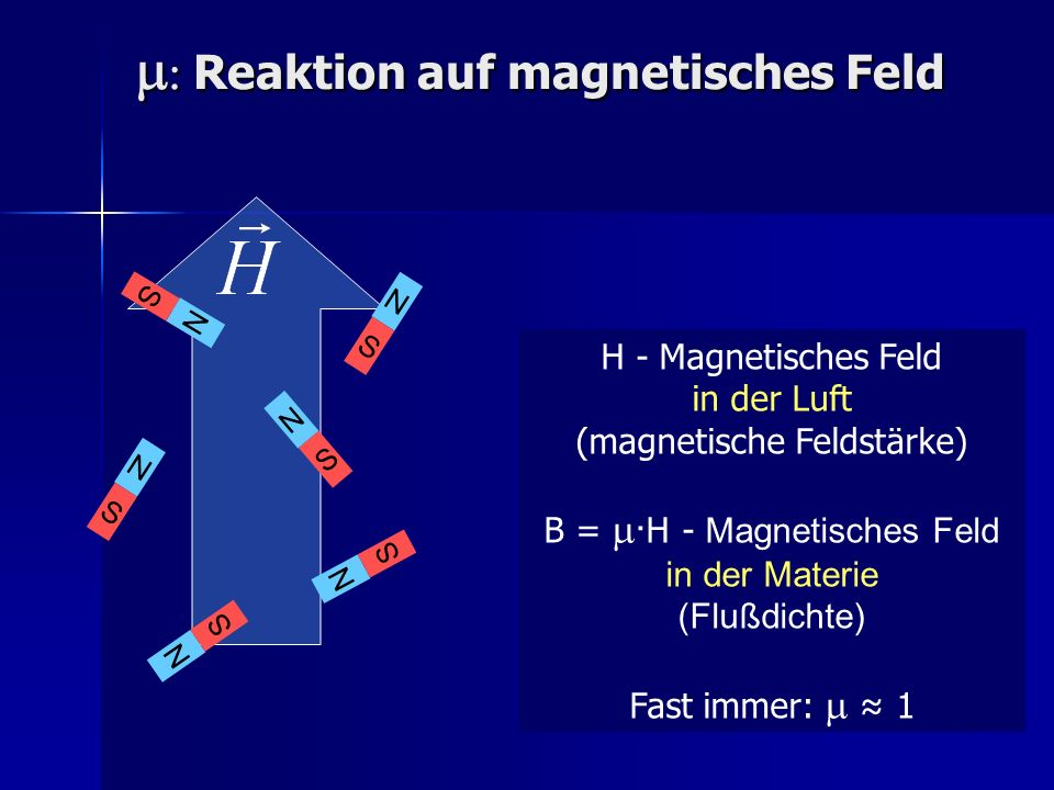 m: Reaktion auf magnetisches Feld
