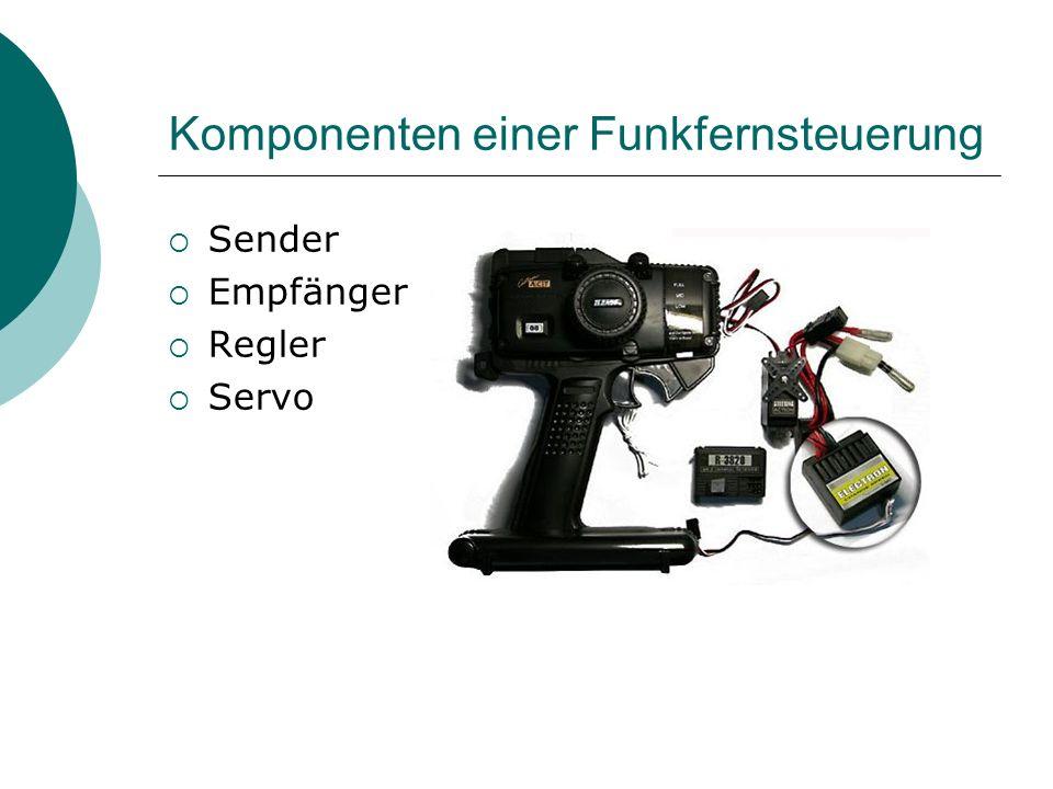Komponenten einer Funkfernsteuerung