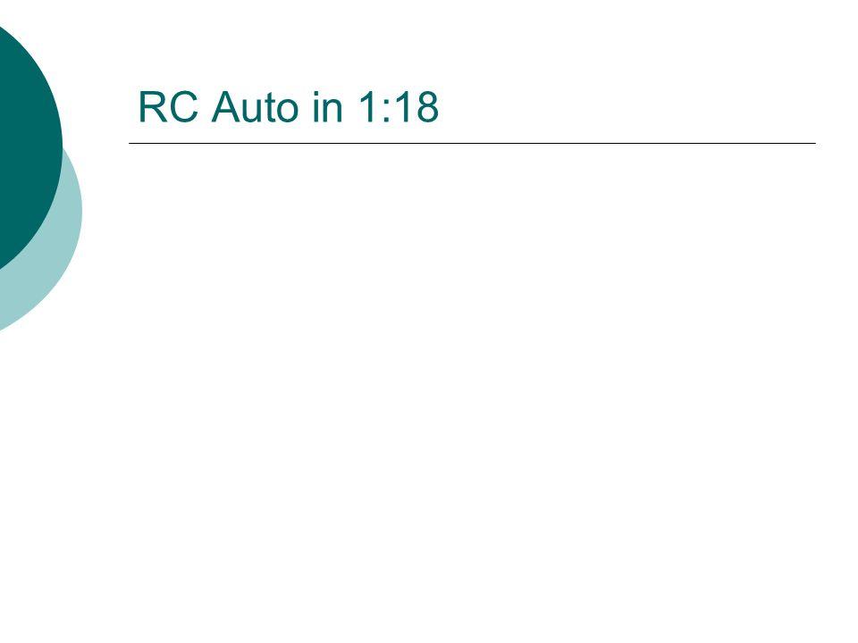RC Auto in 1:18