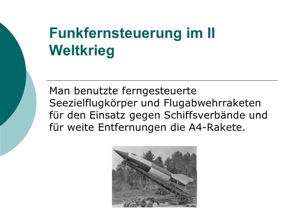 Funkfernsteuerung im II Weltkrieg