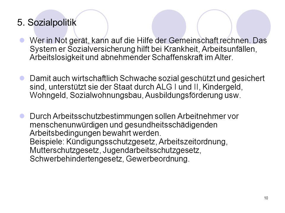 5. Sozialpolitik