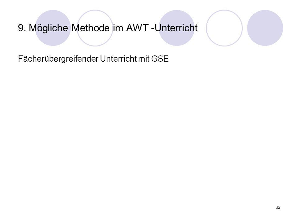 9. Mögliche Methode im AWT -Unterricht