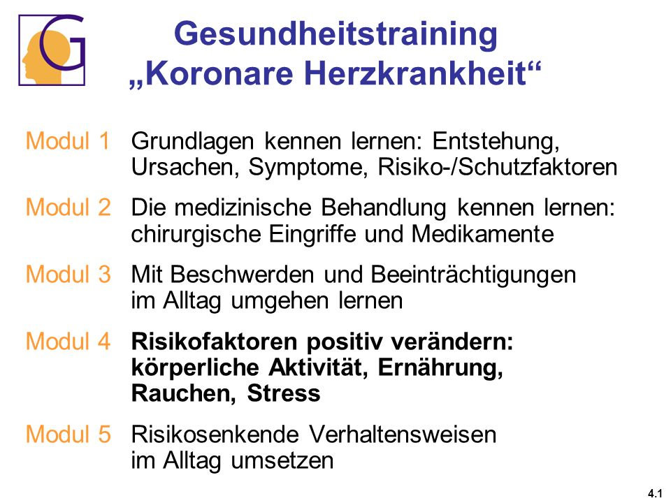 "Gesundheitstraining ""Koronare Herzkrankheit"