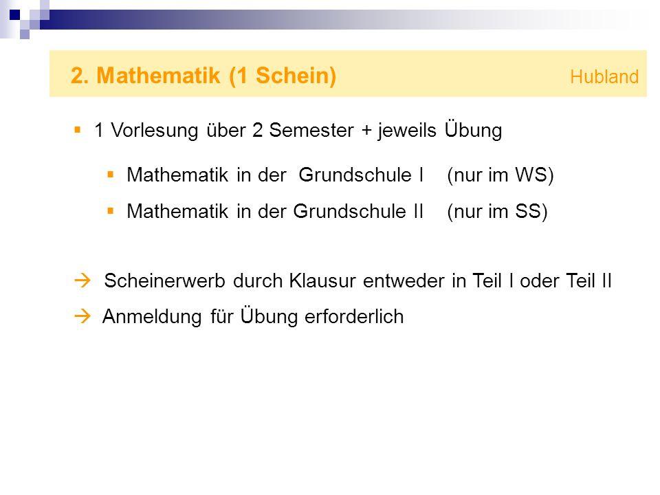 2. Mathematik (1 Schein) Hubland