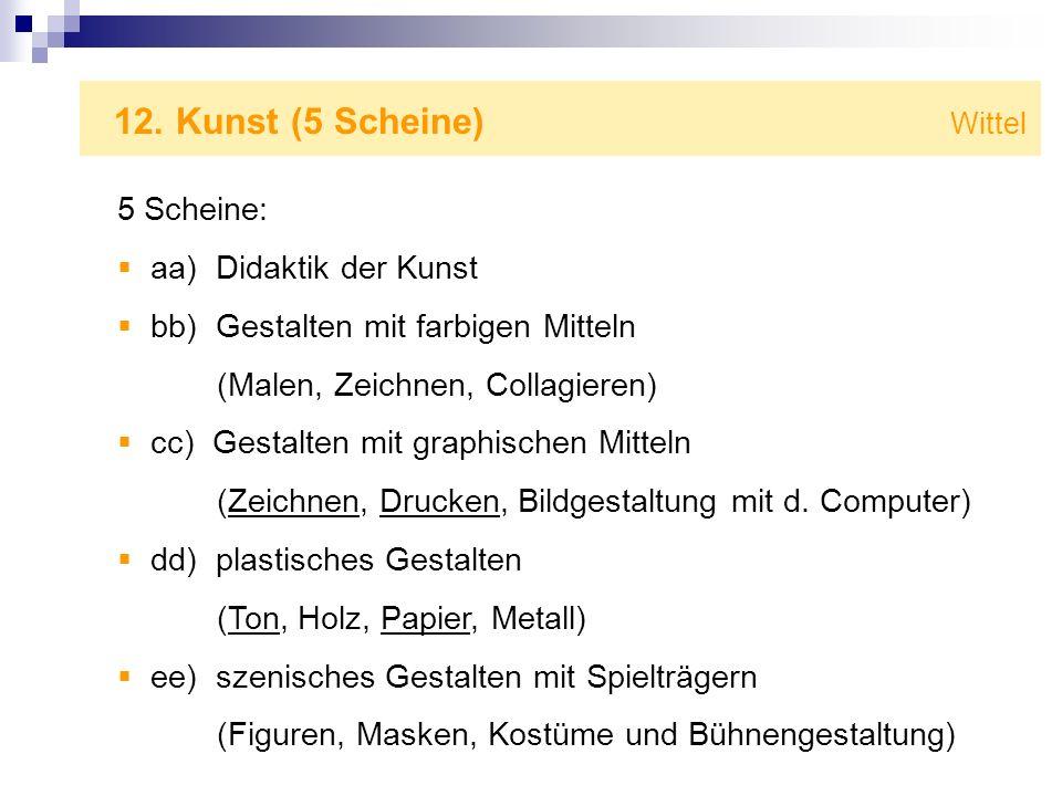 12. Kunst (5 Scheine) Wittel