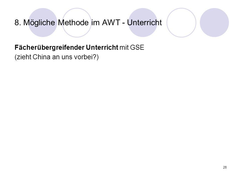8. Mögliche Methode im AWT - Unterricht